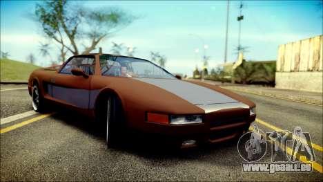 Infernus New Edition pour GTA San Andreas sur la vue arrière gauche