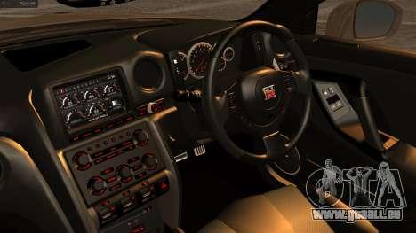 Nissan GT-R R35 pour GTA San Andreas vue de droite