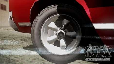 Sabre Turbocharged pour GTA San Andreas sur la vue arrière gauche