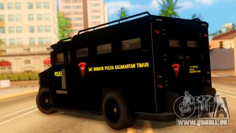 Sat Brimob Skin Enforcer from GTA 5 für GTA San Andreas linke Ansicht