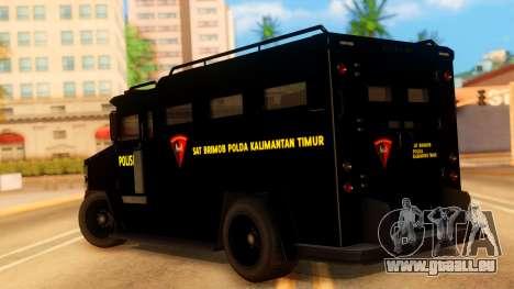 Sat Brimob Skin Enforcer from GTA 5 pour GTA San Andreas laissé vue