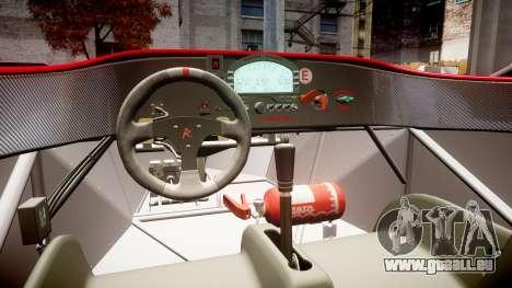 Radical SR8 RX 2011 [28] pour GTA 4 est une vue de l'intérieur