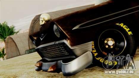 Chevrolet Bel Air 1956 Rat Rod Street pour GTA San Andreas vue arrière