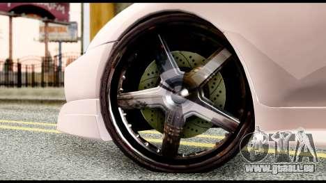Toyota Supra Full Tuning v2 pour GTA San Andreas sur la vue arrière gauche