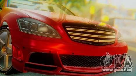 Mercedes-Benz S65 pour GTA San Andreas vue arrière