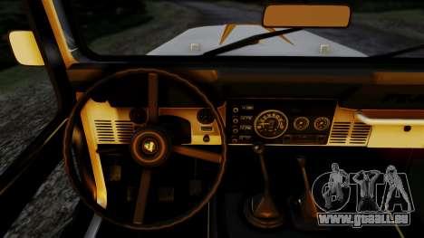 Jeep CJ-7 Renegade 1982 pour GTA San Andreas sur la vue arrière gauche
