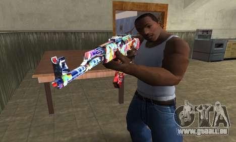 Cool Graf AK-47 pour GTA San Andreas deuxième écran