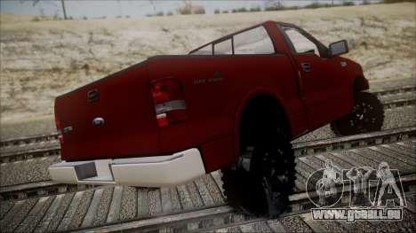 Ford F-150 2005 Single Cab pour GTA San Andreas laissé vue