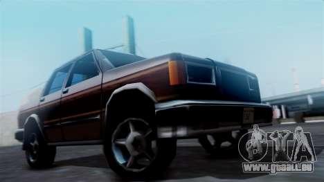 Landstalker Pickup pour GTA San Andreas sur la vue arrière gauche