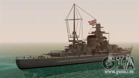 Scharnhorst Battleship für GTA San Andreas linke Ansicht