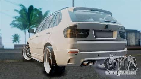 BMW X5M 2014 E-Tuning pour GTA San Andreas laissé vue