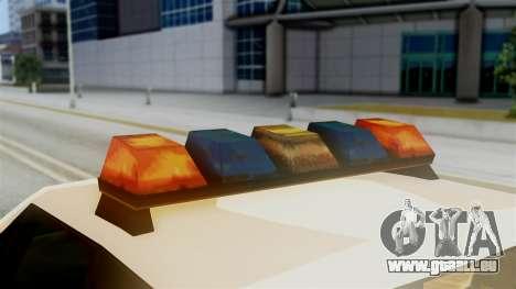 SAPD Cruiser für GTA San Andreas Rückansicht