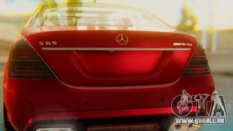Mercedes-Benz S65 pour GTA San Andreas vue intérieure