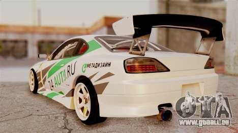 Nissan Silvia S15 24AUTORU für GTA San Andreas linke Ansicht