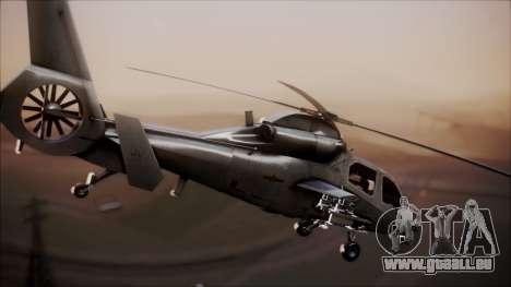 Harbin WZ-19 für GTA San Andreas zurück linke Ansicht