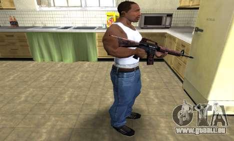 Brown Jungles M4 pour GTA San Andreas troisième écran