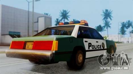 SAPD Cruiser pour GTA San Andreas sur la vue arrière gauche