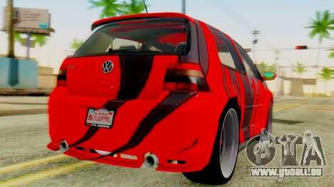 Volkswagen Golf R32 Edition Tribal pour GTA San Andreas laissé vue