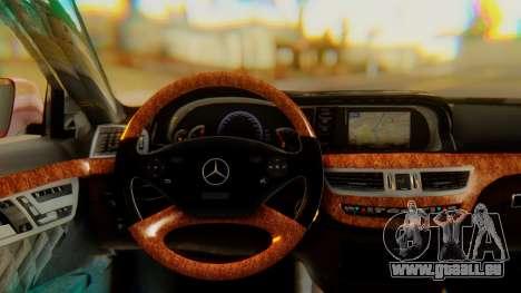 Mercedes-Benz S65 pour GTA San Andreas vue de droite