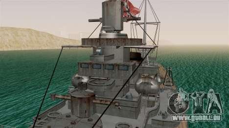 Scharnhorst Battleship für GTA San Andreas rechten Ansicht