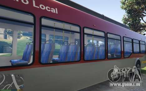 GTA 5 New Bus Textures v2 arrière vue latérale gauche
