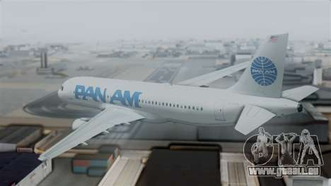 Airbus A320-200 Pan American World Airlines für GTA San Andreas linke Ansicht