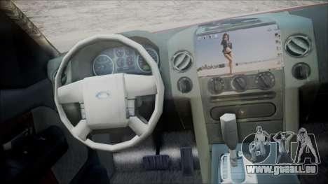 Ford F-150 2005 Single Cab pour GTA San Andreas sur la vue arrière gauche