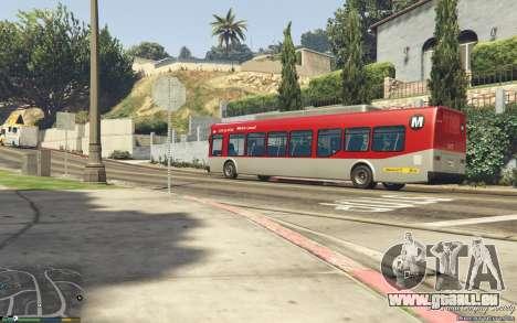 GTA 5 New Bus Textures v2 arrière droit vue de côté