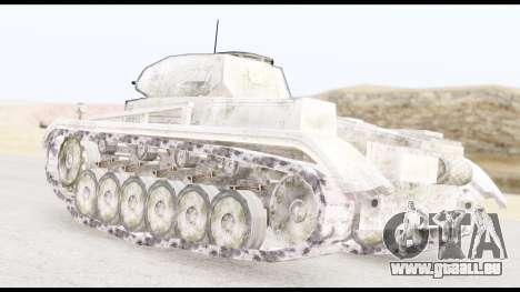 Panzerkampwagen II Snow pour GTA San Andreas laissé vue