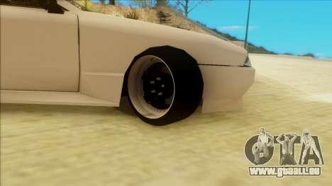 Elegy by PROFF pour GTA San Andreas sur la vue arrière gauche