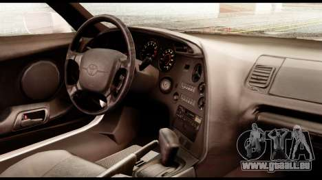 Toyota Supra Full Tuning v2 pour GTA San Andreas vue de droite