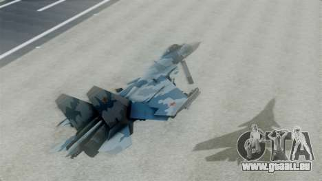 Sukhoi SU-33 Flanker-D pour GTA San Andreas sur la vue arrière gauche