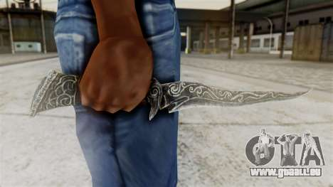 Ebony Dagger für GTA San Andreas dritten Screenshot