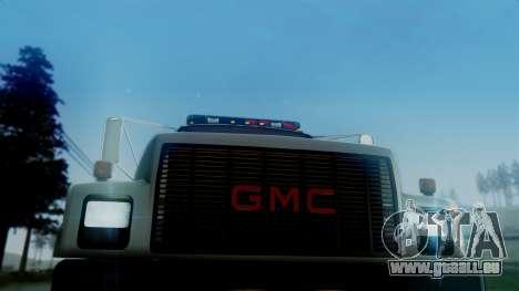 GMC Topkick Towtruck pour GTA San Andreas sur la vue arrière gauche