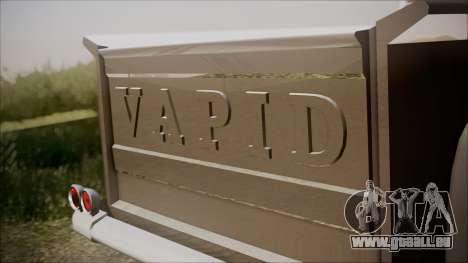 GTA 5 Vapid Slamvan Pickup IVF für GTA San Andreas Rückansicht