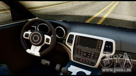 Infiniti QX56 Final pour GTA San Andreas vue de droite