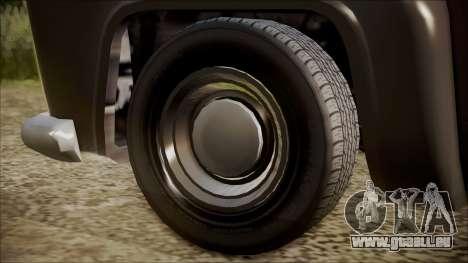 GTA 5 Vapid Slamvan Pickup IVF pour GTA San Andreas sur la vue arrière gauche