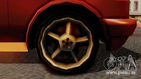 Club New Edition pour GTA San Andreas sur la vue arrière gauche