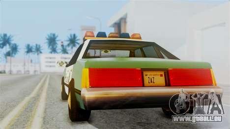 SAPD Cruiser pour GTA San Andreas laissé vue