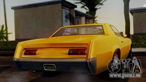 GTA 5 Albany Virgo IVF pour GTA San Andreas sur la vue arrière gauche