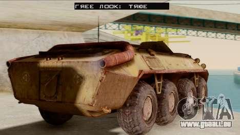 БТР-70 Rouille de S. T. A. L. K. E. R. pour GTA San Andreas laissé vue
