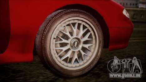 Mazda MX-6 (GE5S) für GTA San Andreas Rückansicht
