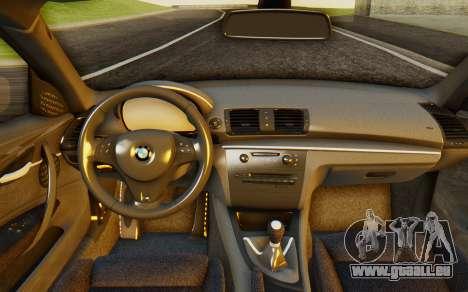 BMW 1M E82 pour GTA San Andreas vue arrière