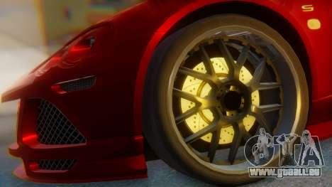 Lotus Europe S Wide pour GTA San Andreas sur la vue arrière gauche