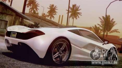 GTA 5 Progen T20 pour GTA San Andreas sur la vue arrière gauche