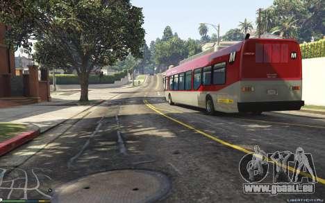 GTA 5 New Bus Textures v2 vue arrière