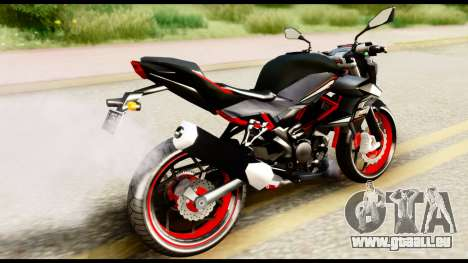 Kawasaki Z250SL Red für GTA San Andreas linke Ansicht