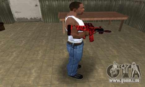 Red Leopard M4 pour GTA San Andreas troisième écran