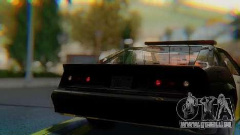 Buffalo Sheriff pour GTA San Andreas vue arrière