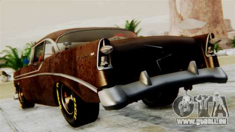 Chevrolet Bel Air 1956 Rat Rod Street für GTA San Andreas linke Ansicht